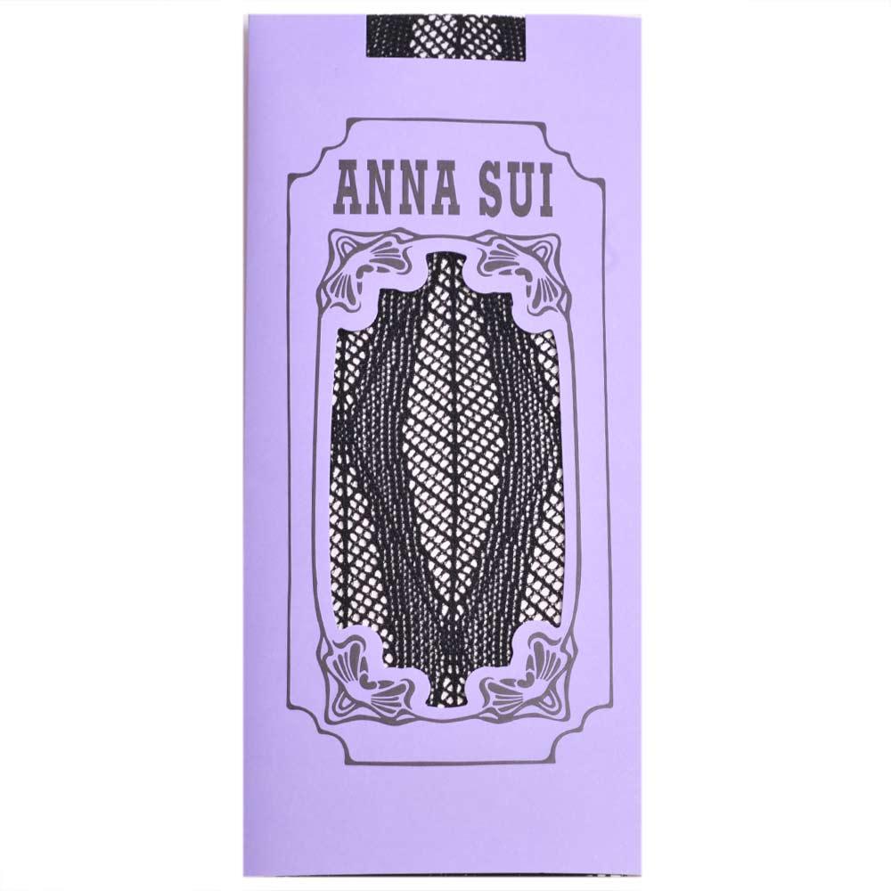 ANNA SUI 新藝術風格靜電防止加工半統網襪(黑)