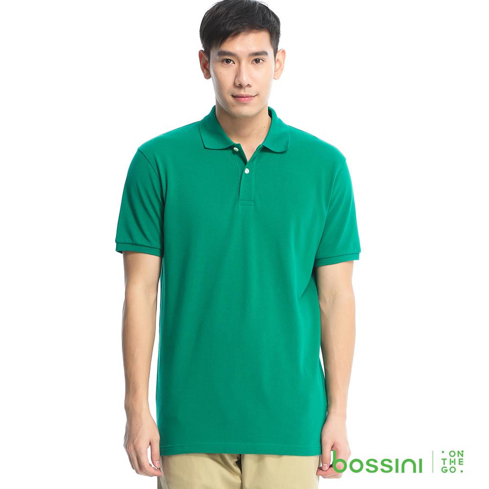 bossini男裝-純棉POLO衫01暗綠