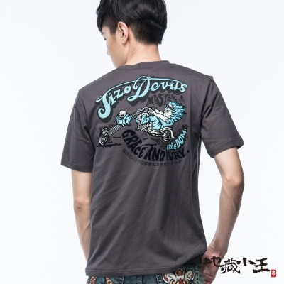 地藏小王-BLUE-WAY-飆風哈雷短袖T恤-鐵灰