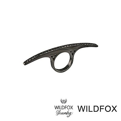 Wildfox Couture 美國品牌 古典灰鑽戒指 銀灰色平衡戒指
