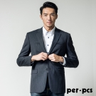 per-pcs 商務質男毛料經典素面款西裝外套_黑條(708317)