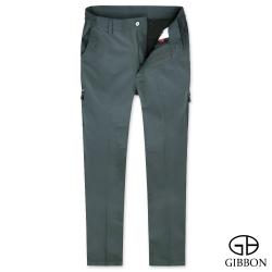 GIBBON 防潑水吸排鬆緊機能長褲‧灰色