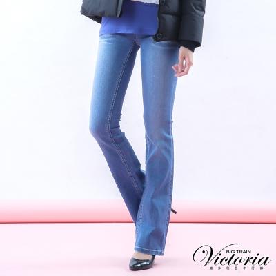 Victoria 弧型美臀中腰靴型褲-女-中藍