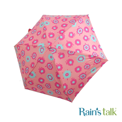 Rains talk 冶艷花叢抗UV三折手開傘 3色可選
