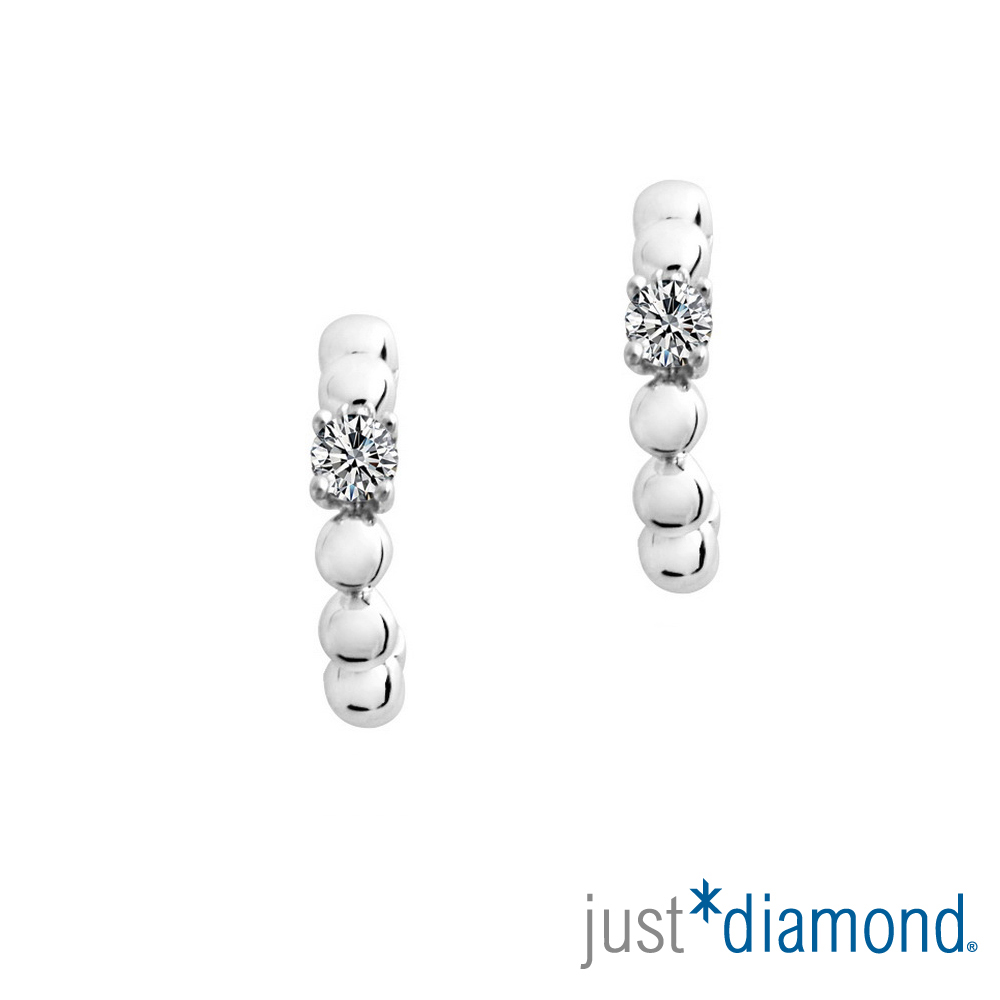 Just Diamond Rosy Rain 18K金鑽石耳環