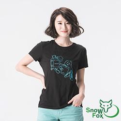 【SNOWFOX 雪狐】生命奇蹟插畫家陳寧悅聯名圖T/女款短袖T恤AT-81612W黑