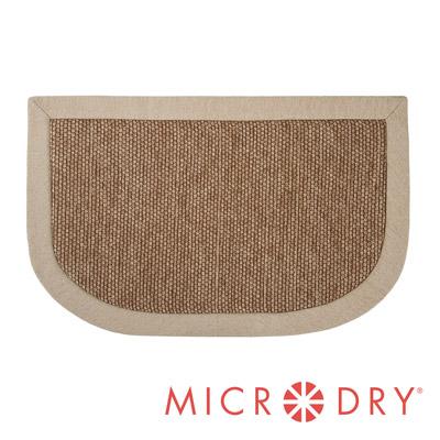 Microdry 時尚地墊 雙色舒適多功能地墊【亞麻色邊框/ F】(50x80cm)