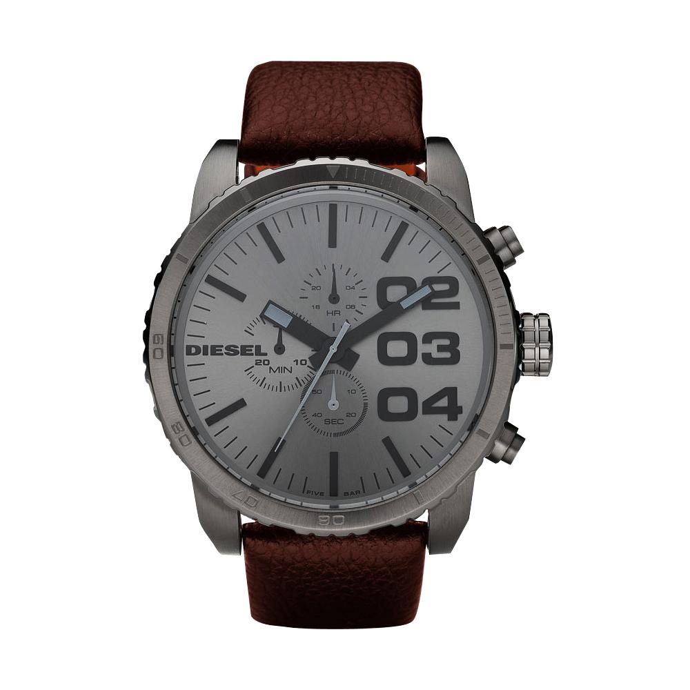 DIESEL 忍者戰將 時尚計時腕錶-槍灰/51mm