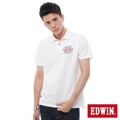 EDWIN BLUE TRIP斑駁貼布POLO衫 -男-白色