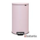 Brabantia Flatback半月腳踏式垃圾桶30L粉紅色