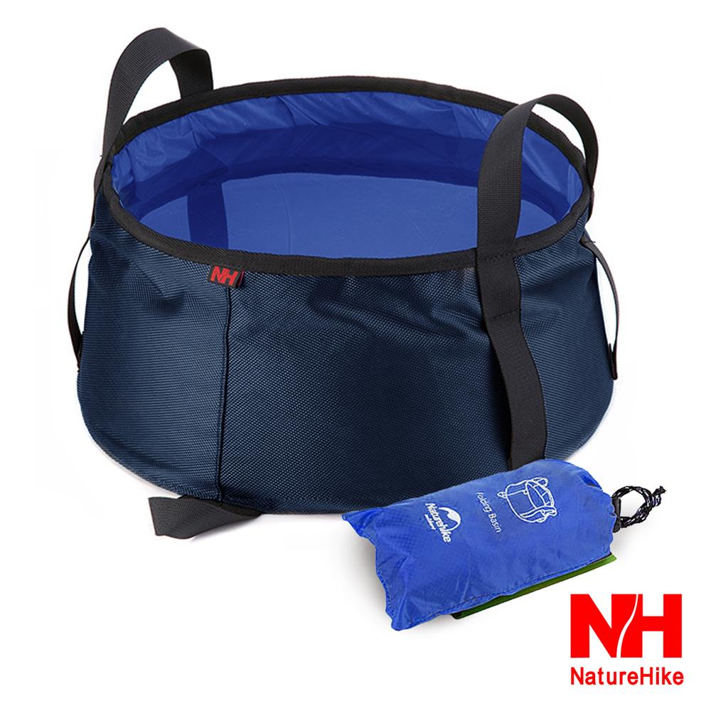 Naturehike輕量耐磨折疊洗臉盆 儲水盆 水桶 10L 附收納袋 水藍