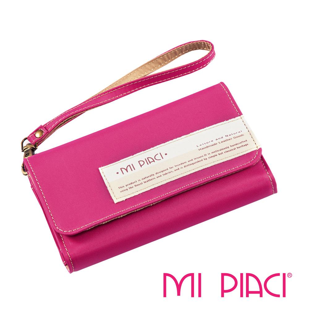 MI PIACI-Jet Set系列-手機零錢包-布款-1085042-桃紅色