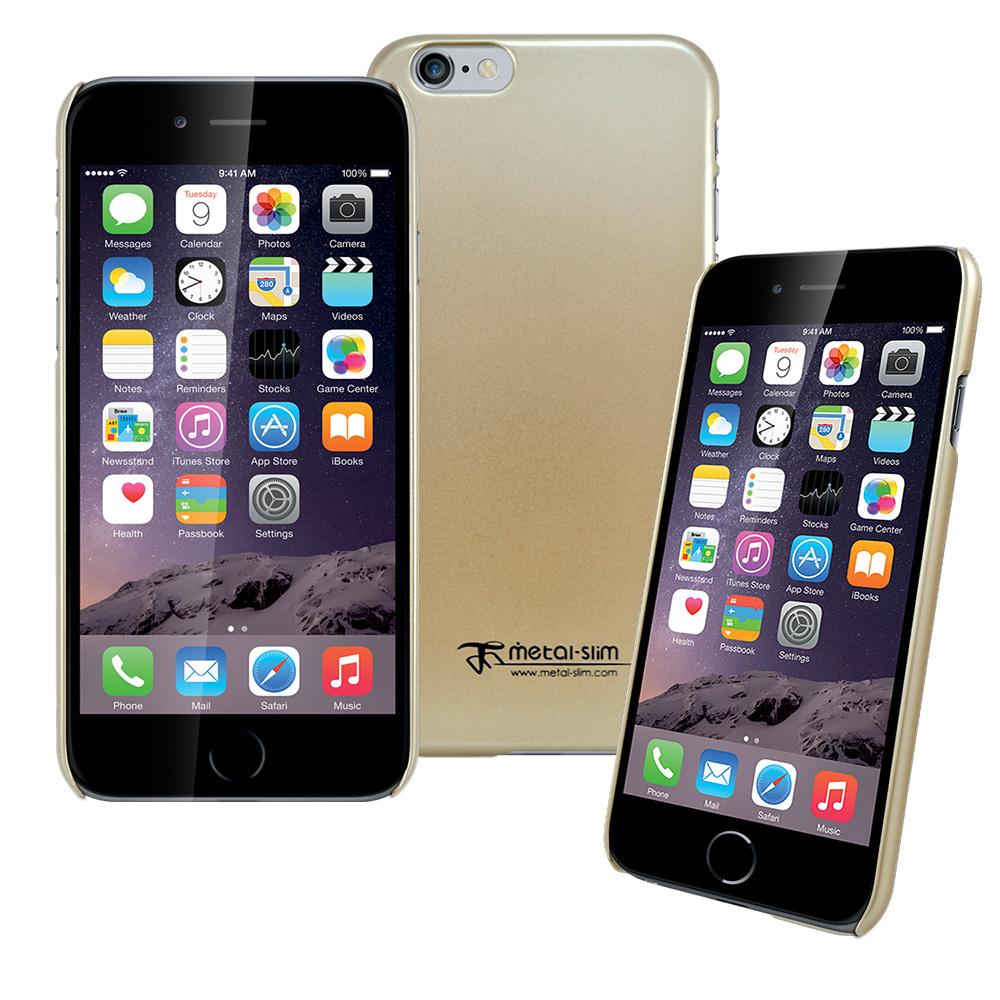 Metal-Slim iphone 6 /6s 珍珠霧面光感系列新型手機殼-土豪金