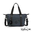 Kipling 手提包 質感條紋藍-小
