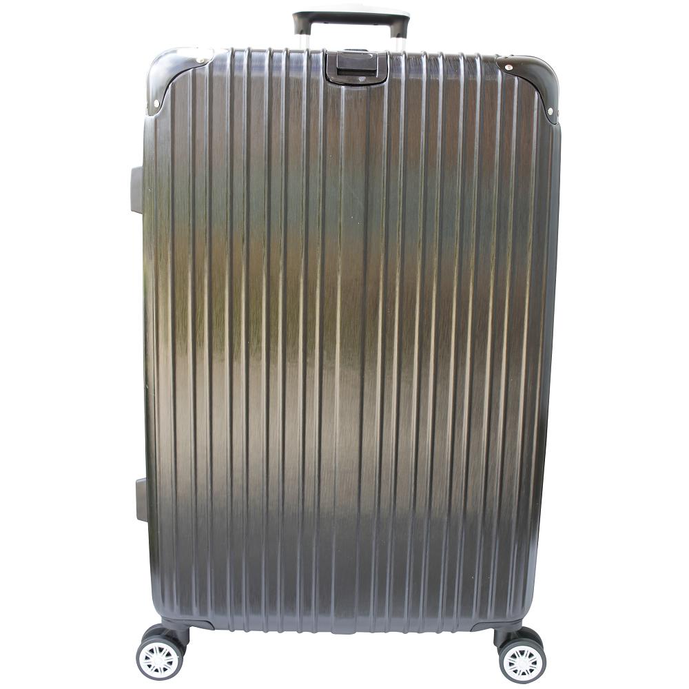 YC Eason 麗致24吋PC髮絲紋可加大海關鎖行李箱 黑