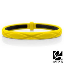 MASSA-G 繽紛炫彩鍺鈦能量手環-黃