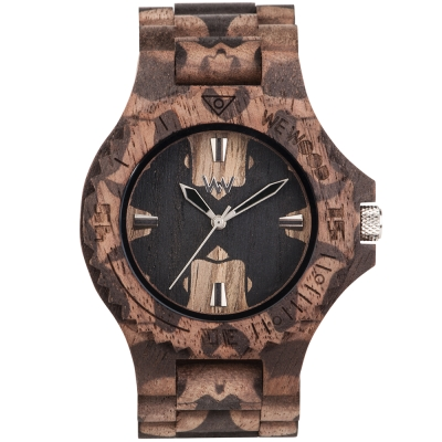 WEWOOD 義大利木頭錶設計款 DATE NATURE MIRROR NUT-45mm