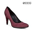 ECCO SHAPE 75 SLEEK 優雅細跟正式跟鞋-酒紅