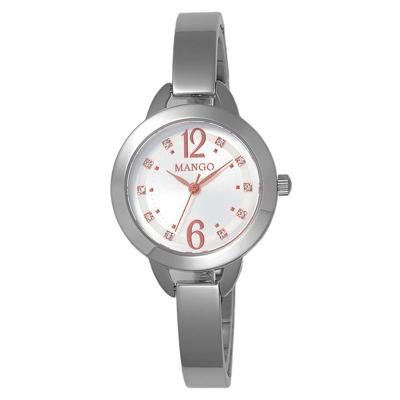 MANGO 晶透光彩氣質時尚腕錶-MA6651L-82/30mm