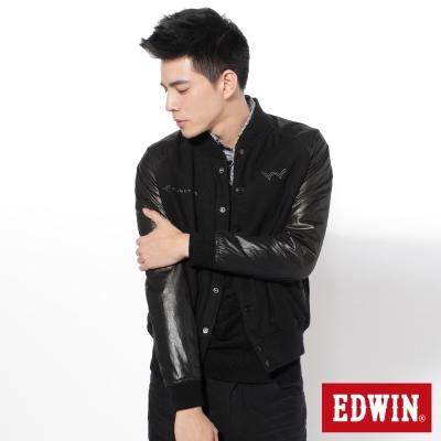 EDWIN-重新定義毛呢異材質剪接防寒外套-男款-黑色