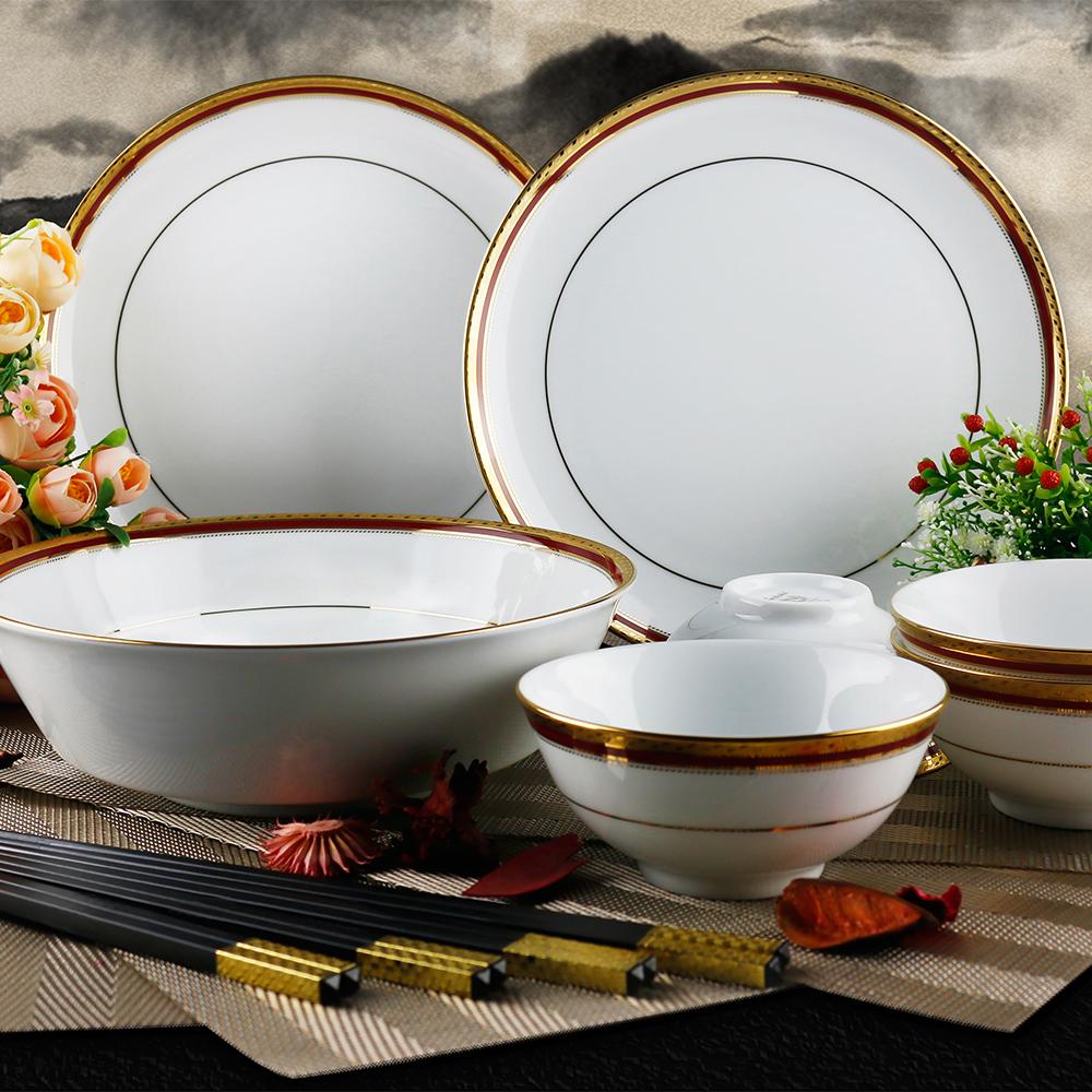 日本Noritake華漾風華金邊奢華餐具組-4人份