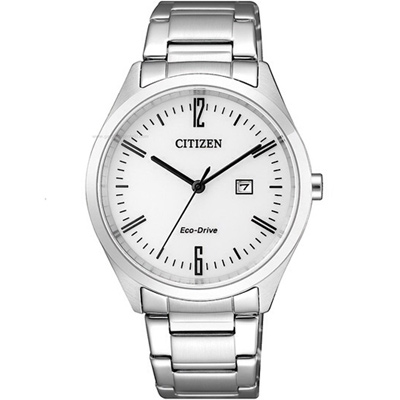 CITIZEN Eco Drive 典雅光動能女錶(EW2450-84A)-白/34mm
