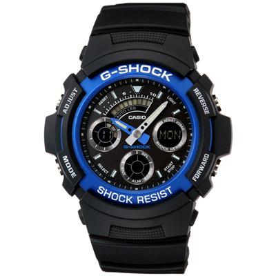 G-SHOCK 極速先鋒運動雙顯錶(AW-591-2A)-炫藍/44.6mm