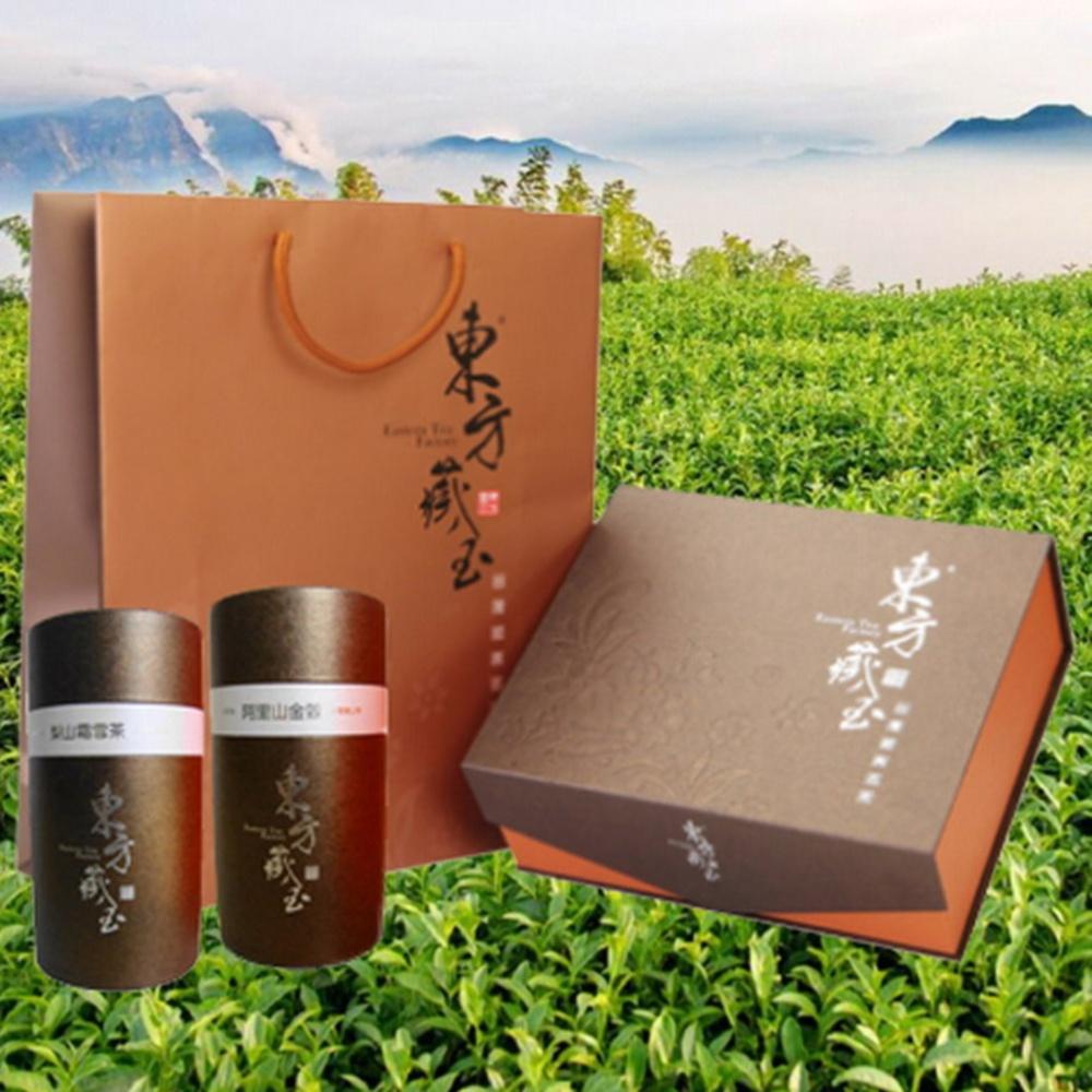 東方藏玉茶葉禮盒(梨山霜雪茶+阿里山金萱)