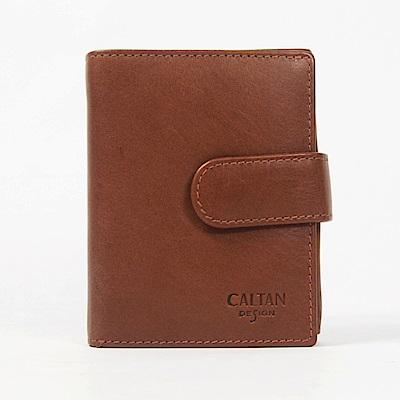 CALTAN-短夾 女夾 多層收納 兩折 鈔票夾 卡夾 零錢袋 釦式-071848cd