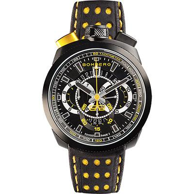 BOMBERG 炸彈錶 BOLT-68 石英計時碼錶-黑/45mm
