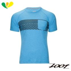 ZOOT 頂級極致型輕羽級吸排運動跑衣(男) Z1704023(格紋藍)