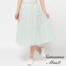 Samansa Mos2 直條紋ALIN及膝裙