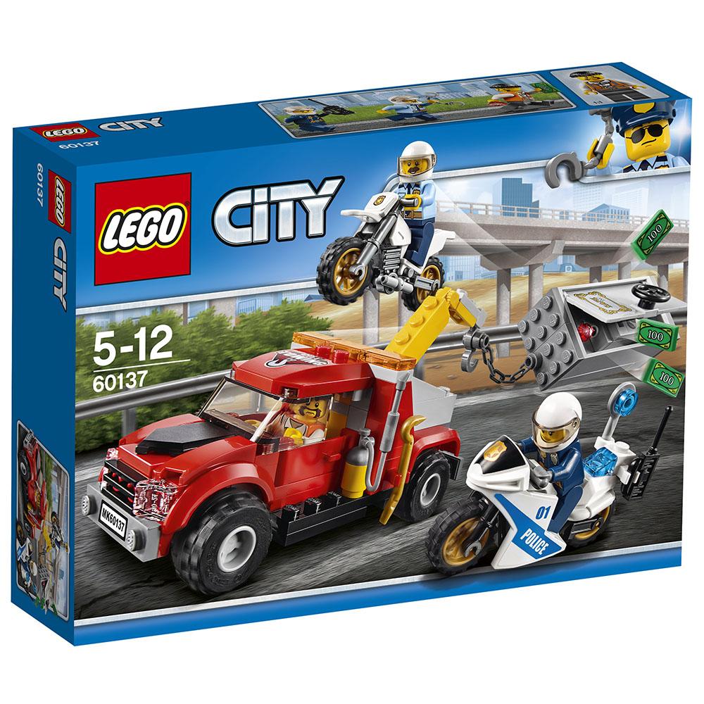 LEGO樂高城市系列60137拖吊車追捕行動5Y