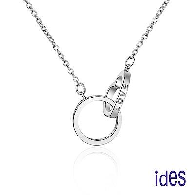 ides愛蒂思 輕珠寶。日韓風尚設計925純銀晶鑽項鍊/LOVE