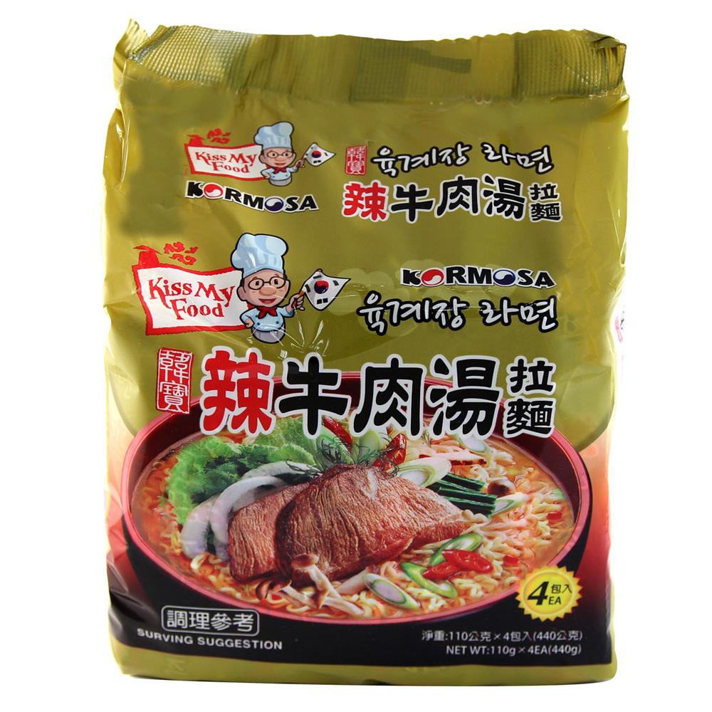 Paldo八道 辣牛肉湯拉麵(110gx4入)