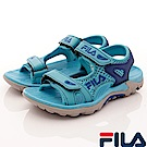 FILA頂級童鞋 透氣運動涼鞋款 FO13S-333藍(中大童段)