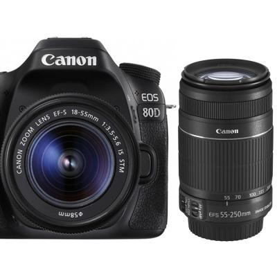 Canon EOS 80D+18-55mm+55-250mm IS II*(平輸中文)