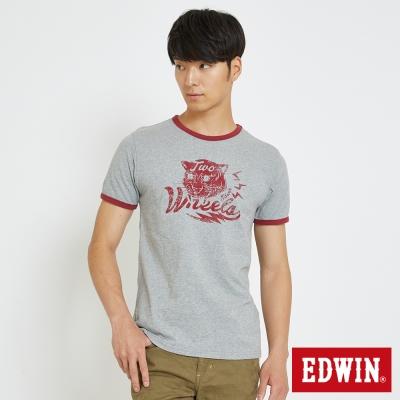 EDWIN 復古原素動物T恤-男-灰色