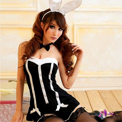 【Moira】辛辣派對!五件式兔女郎裝
