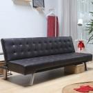 H&D IRON 摩登皮質沙發床- 咖啡色