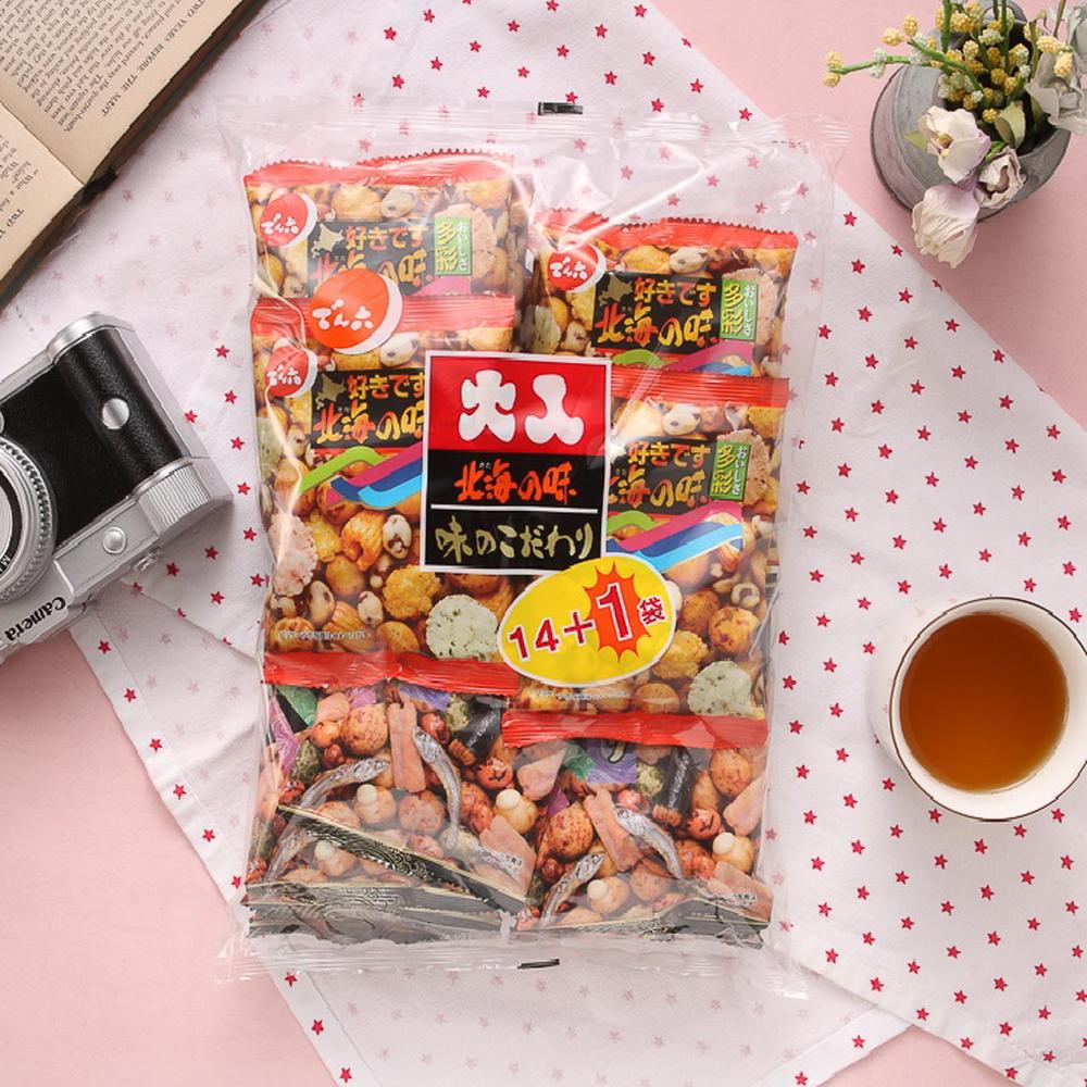 天六 二色綜合14+1袋入大包裝-豆果子(365g)
