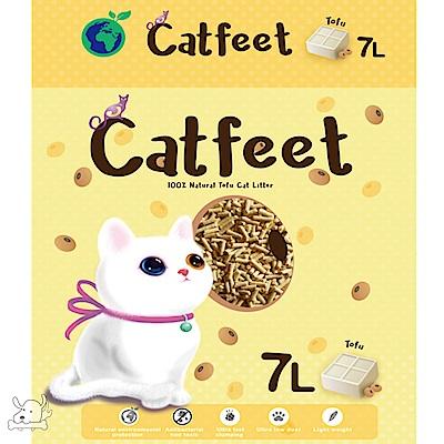CatFeet 貓腳掌 天然環保豆腐砂 3種香味 7L  X 6包