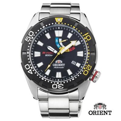 ORIENT 東方錶 M-FORCE  200米潛水機械錶-黑色/44mm