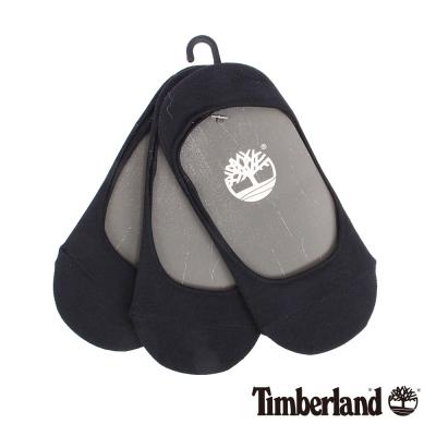 Timberland 女款黑色涼感材質純色襯墊船型襪