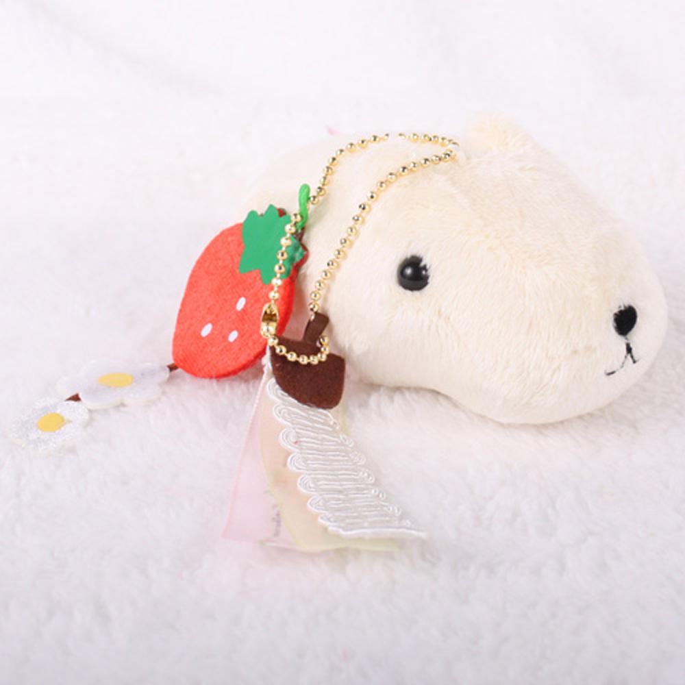 Kapibarasan 水豚君系列懷特小姐草莓絨毛吊飾