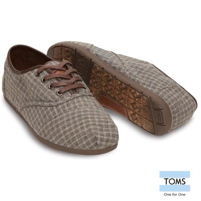 TOMS 格紋綁帶休閒鞋-男款