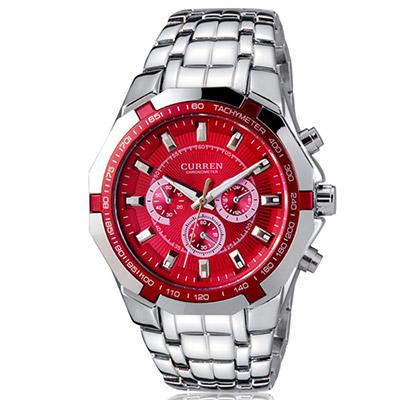 Watch-123 英雄時代 個性型男仿三眼尊爵潮流腕錶/40mm
