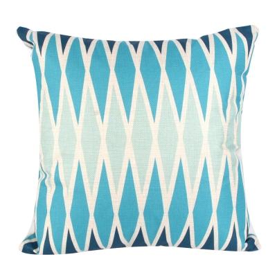 地中海風 棉麻舒適方型抱枕.靠枕 (菱格紋)