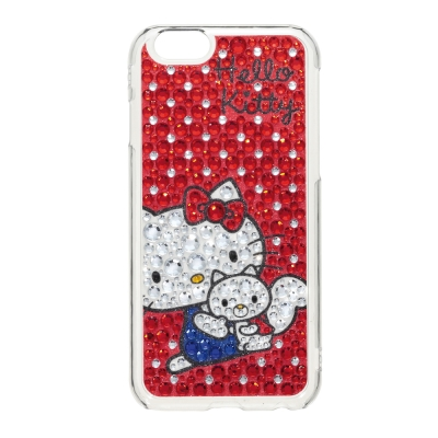 日本Suncrest HelloKitty iPhone6(4.7)滿鑽保護殼(...