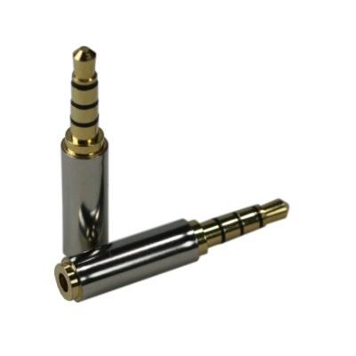 ZIYA音源轉接頭3.5公對2.5母三環四極鍍銅合金